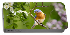 Beautiful Bluebird Portable Battery Charger by Christina Rollo