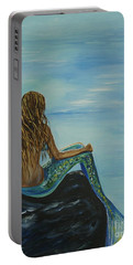 Beautiful Magic Mermaid Portable Battery Charger by Leslie Allen