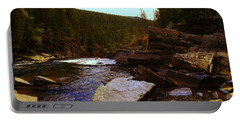 Beautiful Yak River Montana Portable Battery Charger by Jeff Swan