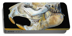 Beaver Skull 1 Portable Battery Charger by Catherine Twomey