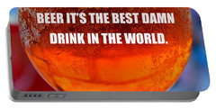 Beer Quote By Jack Nicholson Portable Battery Charger by David Lee Thompson