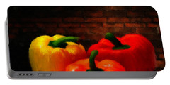 Bell Peppers Portable Battery Charger by Lourry Legarde