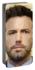 Ben Affleck Portrait Portable Battery Charger by Samuel Majcen