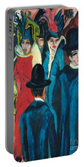 Berlin Street Scene Portable Battery Charger by Ernst Ludwig Kirchner