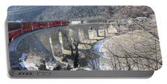 Portable Battery Charger featuring the photograph Bernina Express In Winter by Travel Pics