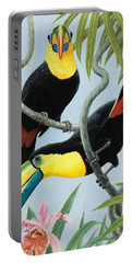 Big-beaked Birds Portable Battery Charger by RB Davis