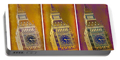 Big Ben Triptych 1 Portable Battery Charger by Stephen Stookey