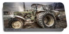 Big John In Winter Portable Battery Charger by Debra and Dave Vanderlaan