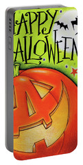 Big Pumpkin Portable Battery Charger by Anne Tavoletti