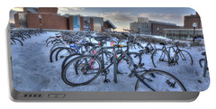 Bikes At University Of Minnesota  Portable Battery Charger by Amanda Stadther