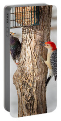 Bird Feeder Stand Off Portable Battery Charger by Bill Wakeley