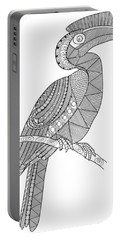 Bird Hornbill Portable Battery Charger by Neeti Goswami