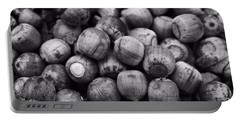 Black And White Acorns Portable Battery Charger by Dan Sproul