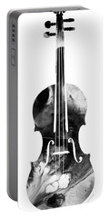 Black And White Violin Art By Sharon Cummings Portable Battery Charger by Sharon Cummings