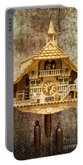 Black Forest Figurine Clock Portable Battery Charger by Heiko Koehrer-Wagner