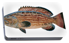 Black Grouper Portable Battery Charger by Carey Chen
