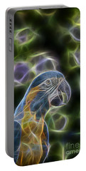 Blue And Gold Macaw  Portable Battery Charger by Douglas Barnard