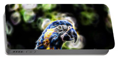 Blue And Gold Macaw V4 Portable Battery Charger by Douglas Barnard