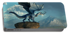 Blue Dragon Portable Battery Charger by Daniel Eskridge
