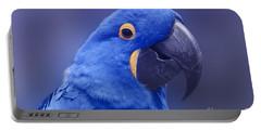 Blue Hyacinth Macaw - Anodorhynchus Hyacinthinus - Puohokamoa Hoolawa Maui Hawaii  Portable Battery Charger by Sharon Mau