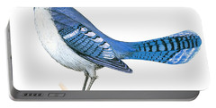 Blue Jay  Portable Battery Charger by Anonymous