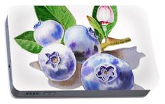 Artz Vitamins The Blueberries Portable Battery Charger by Irina Sztukowski