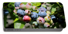 Blueberries On The Vine Portable Battery Charger by Carol Groenen