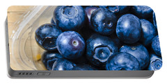Blueberries Punnet Portable Battery Charger by Jorgo Photography - Wall Art Gallery