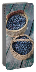 Blueberry Baskets Portable Battery Charger by Edward Fielding