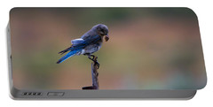 Bluebird Lunch Portable Battery Charger by Mike  Dawson