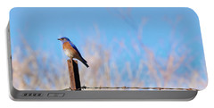 Bluebird On A Post Portable Battery Charger by Mike  Dawson