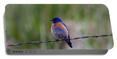 Bluebird On A Wire Portable Battery Charger by Mike  Dawson
