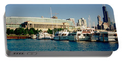 Boats Moored At A Dock, Chicago Portable Battery Charger by Panoramic Images