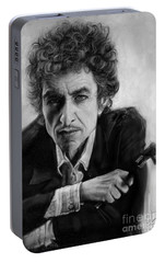 Bob Dylan Portable Battery Charger by Andre Koekemoer
