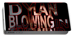 Bob Dylan Blowing In The Wind  Portable Battery Charger by Marvin Blaine