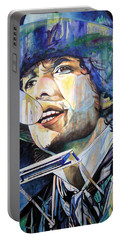 Bob Dylan Tangled Up In Blue Portable Battery Charger by Joshua Morton