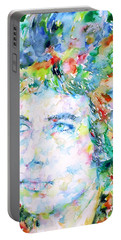 Bob Dylan Watercolor Portrait.3 Portable Battery Charger by Fabrizio Cassetta