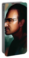 Bono U2 Artwork 1 Portable Battery Charger by Sheraz A