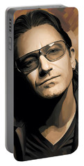 Bono U2 Artwork 2 Portable Battery Charger by Sheraz A