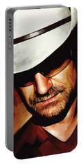 Bono U2 Artwork 3 Portable Battery Charger by Sheraz A