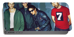 Bono U2 Artwork 5 Portable Battery Charger by Sheraz A