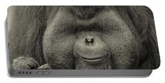 Bornean Orangutan II Portable Battery Charger by Lourry Legarde