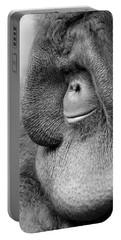 Bornean Orangutan V Portable Battery Charger by Lourry Legarde