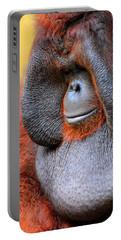 Bornean Orangutan Vi Portable Battery Charger by Lourry Legarde