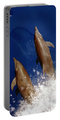 Bottlenose Dolphins Tursiops Truncatus Portable Battery Charger by Anonymous