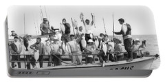 Boys Hold Up Their Fish Portable Battery Charger by Underwood Archives