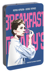 Breakfast At Tiffany's Portable Battery Charger by Douglas Simonson