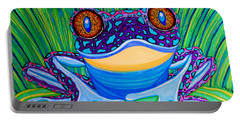 Bright Eyed Frog Portable Battery Charger by Nick Gustafson