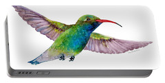 Broad Billed Hummingbird Portable Battery Charger by Amy Kirkpatrick