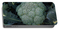 Broccoli Portable Battery Charger by Robert Bales